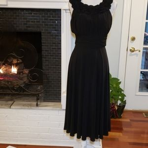 Jessica Howard Evenings 10 Black Sleeveless Ruched